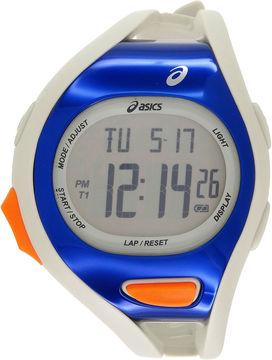 Asics White/Blue Ar07 Runner Unisex Multicolor Strap Watch-Cqar0703y