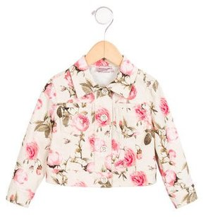 MonnaLisa Girls' Floral Print Jacket