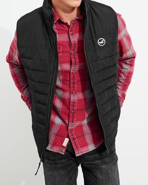 Hollister Sherpa-Lined Puffer Vest