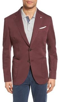 Lubiam Unconstructed Classic Fit Cotton & Linen Blazer