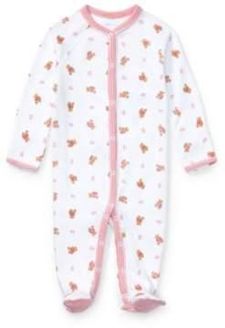 Polo Ralph Lauren Bear Cotton Coverall White Multi Newborn