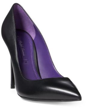 Ralph Lauren Celia Nappa Leather Pump Black 7.5
