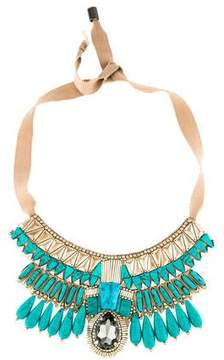 Matthew Williamson Bejeweled Crystal & Resin Collar Necklace