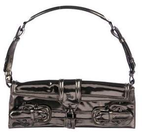Burberry Metallic Leather Shoulder Bag