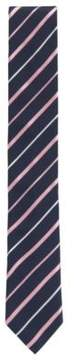 BOSS Hugo Striped Italian Silk Repp Slim Tie One Size pink