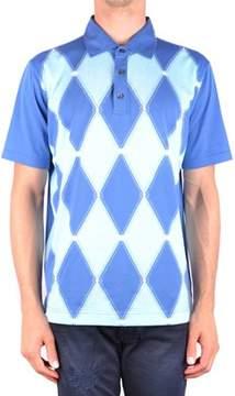 Ballantyne Men's Mcbi032076o Blue Cotton Polo Shirt.