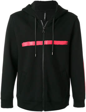 Neil Barrett printed zip hooded sweatshirt