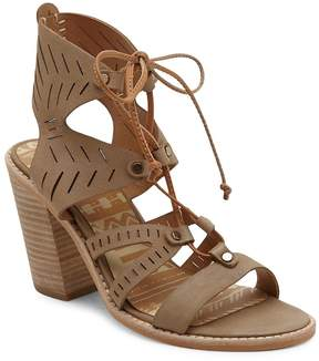 Dolce Vita Women's Luci Leather Cutout Ghillie Lace Sandals