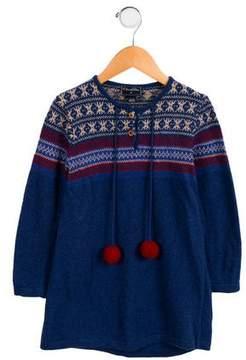 Oscar de la Renta Girls' Knit Wool Dress