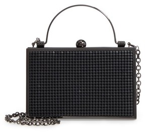 Whiting & Davis Bond Street Mesh Box Clutch - Black