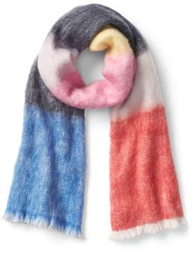Gap Crazy stripe colorblock scarf