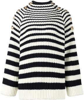 Alberta Ferretti long sleeve striped jumper