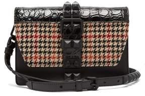Prada Elektra Tweed And Crocodile Leather Cross Body Bag - Womens - Black Multi