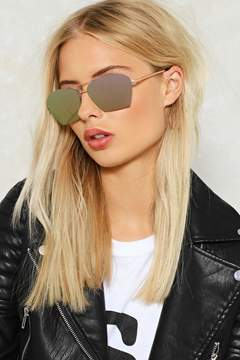 Nasty Gal nastygal Love is Blinding Angular Shades