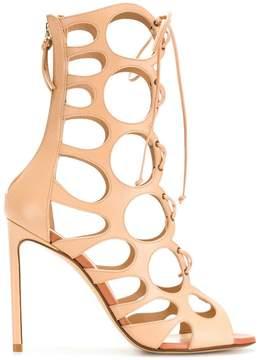 Francesco Russo cut-out lace-up sandals