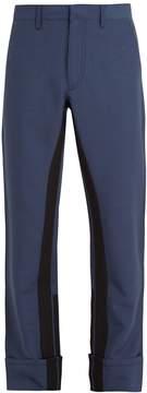 Prada Stripe-detail mohair-blend trousers