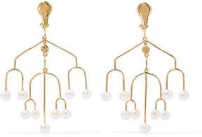 Aurelie Bidermann Siroco Gold-plated Freshwater Pearl Clip Earrings