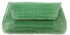 Judith Leiber Alligator Flap Clutch