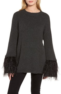 Chelsea28 Women's Feather Trim Sweater