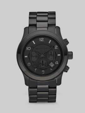 Michael Kors Black-on-Black Stainless Steel Chronograph Watch