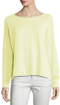 Eileen Fisher Long-Sleeve Linen-Blend Poncho Top