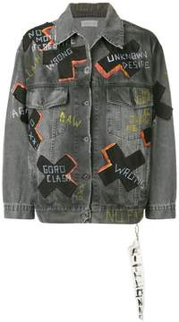 Faith Connexion multi printed denim jacket