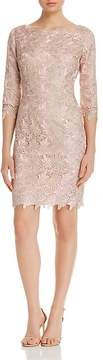 Eliza J Metallic-Lace Sheath Dress