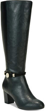 Karen Scott Galee Wide-Calf Dress Boots, Created For Macy's Women's Shoes