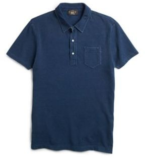 Ralph Lauren Indigo Cotton Pocket Polo Washed Blue Xs