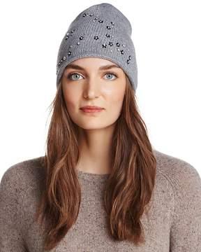 Aqua Floral Knit Hat - 100% Exclusive