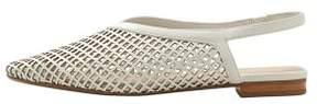 MANGO Laser-cut slingback shoes
