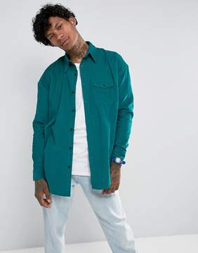 Jaded London Shirt In Green Cord Reg Fit