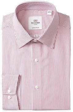 Ben Sherman Twill Bengal Stripe Tailored Slim Fit Dress Shirt