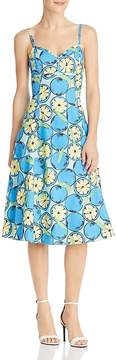 Moschino Lemon-Print A-Line Midi Dress