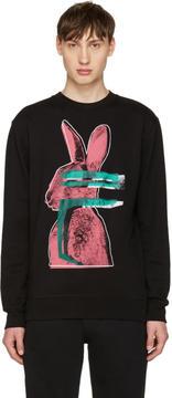 McQ Black Glitch Bunny Clean Pullover
