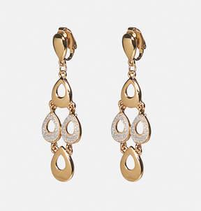 Avenue Glitter Teardrop Clip-On Drop Earrings