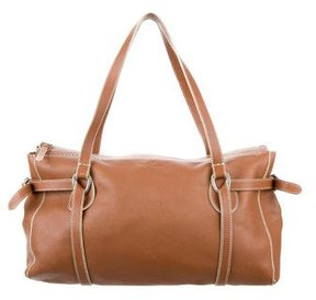 Hogan Topstitched Leather Shoulder Bag