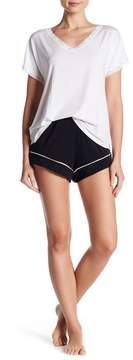 Barefoot Dreams Luxe Milk Jersey Contrast Piped Short