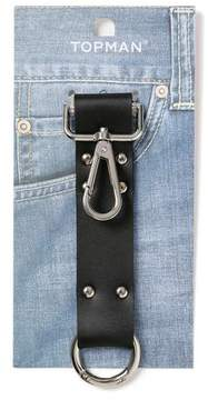 Topman Mens Black Leather Strap Keyring*