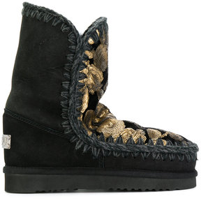 Mou sequinned winter boots