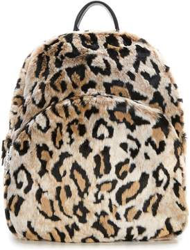 Betsey Johnson Faux-Fuh Leopard Backpack