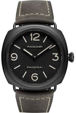 Panerai Radiomir Black Matte Ceramic / Leather 45mm Mens Watch