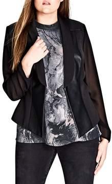 City Chic Sharp & Sheer Jacket