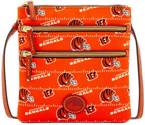 Dooney & Bourke Cincinnati Bengals Nylon Triple Zip Crossbody - BLACK - STYLE