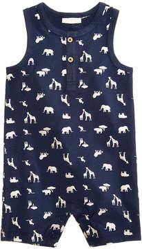 First Impressions Safari-Print Cotton Romper, Baby Boys, Created for Macy's
