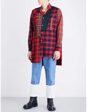 Loewe Patchwork tartan relaxed-fit cotton shirt
