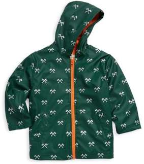 Hatley Little Boy's & Boy's Axes Splash Polyurethane Jacket