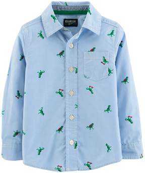 Osh Kosh Oshkosh Bgosh Toddler Boy Dinosaurs Button Down Shirt