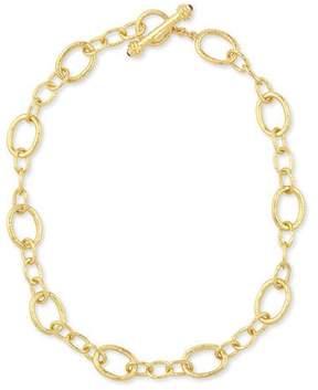 Elizabeth Locke Hammered 19k Garda Link Necklace, 17L