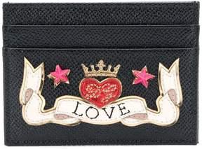 Dolce & Gabbana Love patch card case